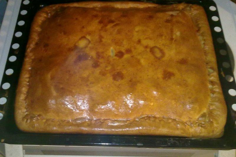 Пирог с рипусом и картошкой