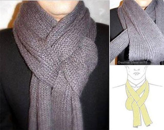 15 способов по-разному завязать шарф