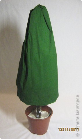 Мастер-класс, Свит-дизайн: МК елочки из конфет Новый год. Фото 11