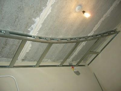 Потолок из гипсокартона двухуровневый на кухне своими руками