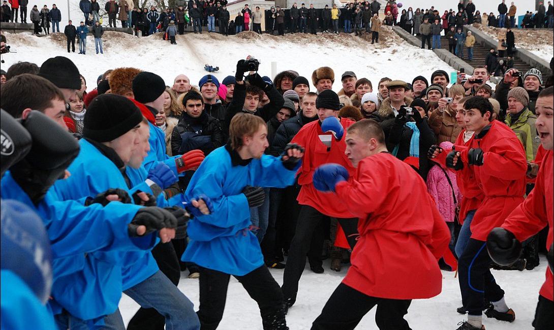Кулачный бой на Руси