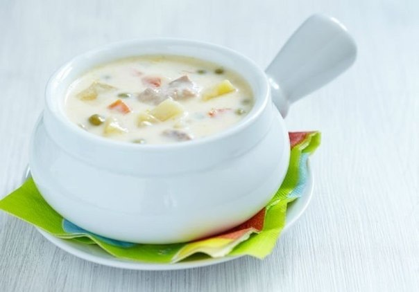 Суп с плавленным сыром и курицей