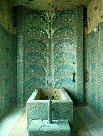 ванная комната с мозаикой