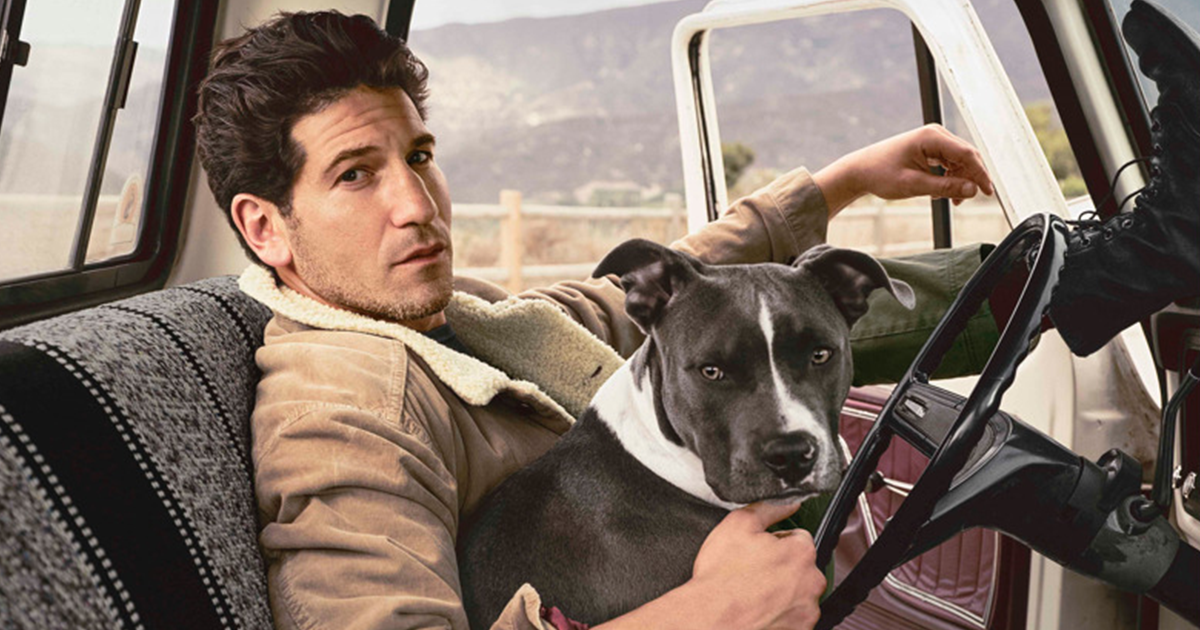 These Photos Of 'Walking Dead' Star With His 3 Rescue Pit Bulls Are The Hottest Thing Ever