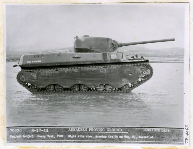 Американское 90-мм танковое орудие M3