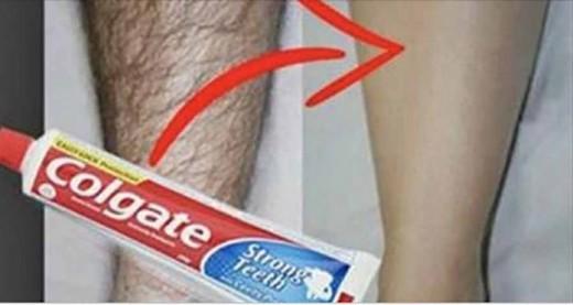 Как легко удалить нежелательные волосы с вашего тела, используя зубную пасту «Сolgate»!