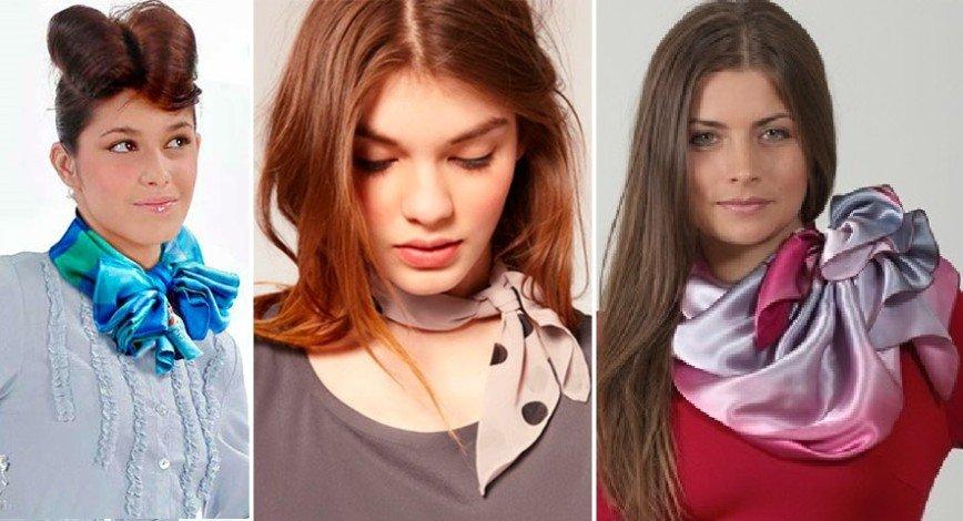 10 оригинальных идей, как носить шейный платок