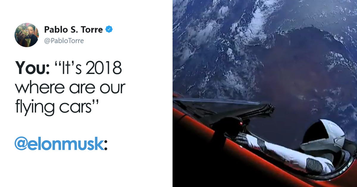 20+ Of The Best Reactions To Elon Musk Sending Tesla Car To Mars