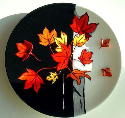 Декоративная посуда ручной работы. Ярмарка Мастеров - ручная работа Отрывок из осени. Handmade.