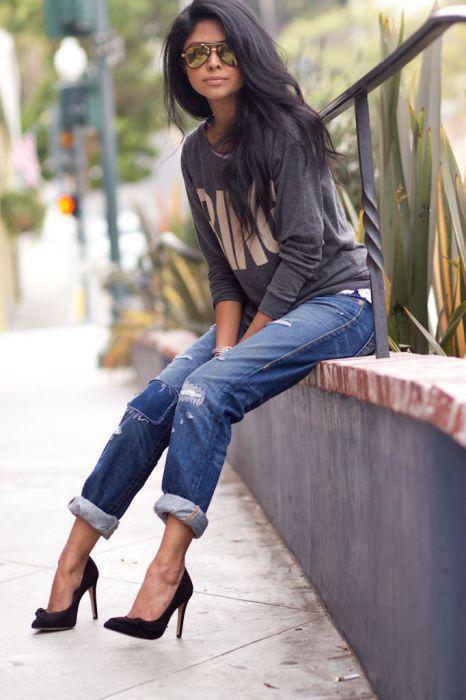 Три модные модели джинсов 2017: бойфренды герлфренды и mom-джинсы — найдите свой фасон