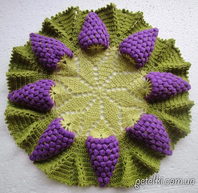 Салфетка Гроздья винограда. Схема