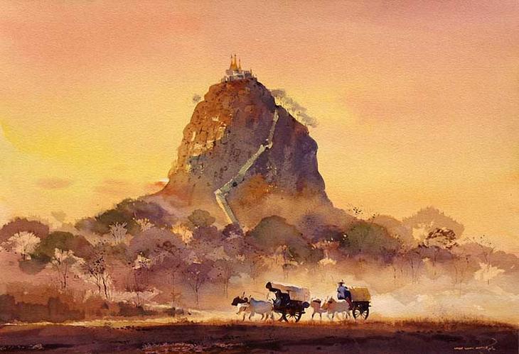 Акварельные картины художник Мьё Вин Онг 30