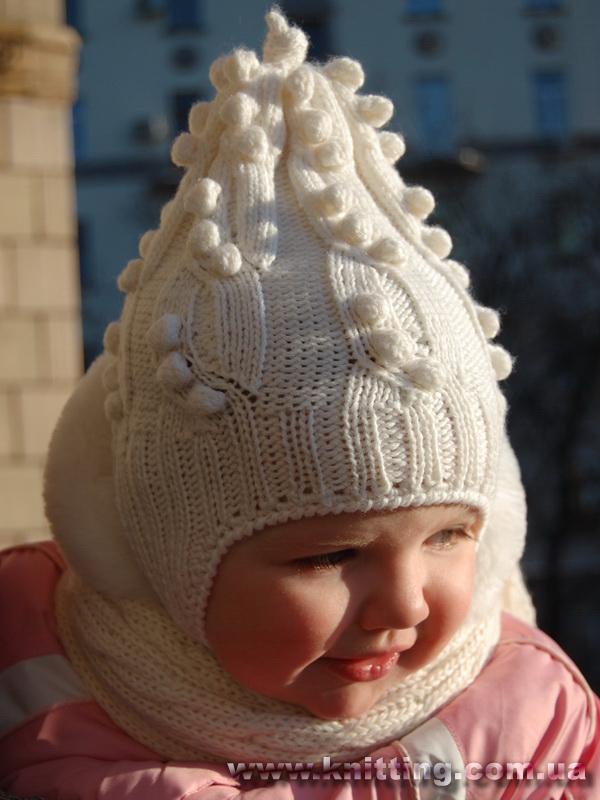 Вязание для детей до года шапочки девочка 33