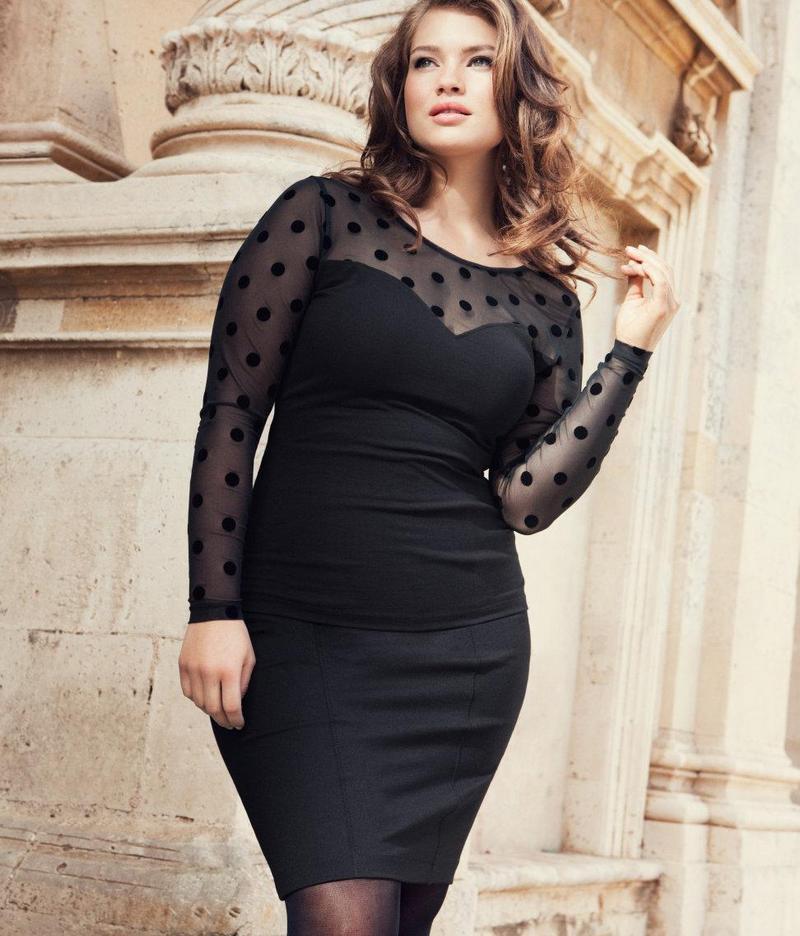 Фасоны платьев для полных женщин в возрасте после 50[4]