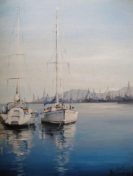 море, Феодосия, порт, яхта, яхты