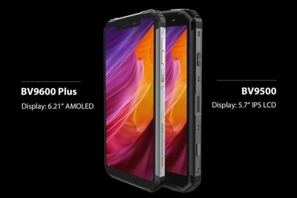 Бронированный смартфон Blackview BV9600 Plus с дактилоскопом в экране