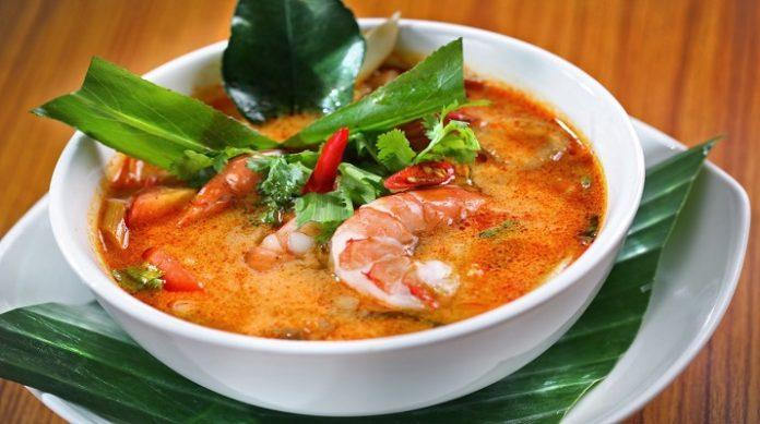 Вкуснейший тайский суп с морепродуктами