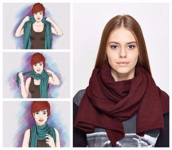 Семь способов носить шарф