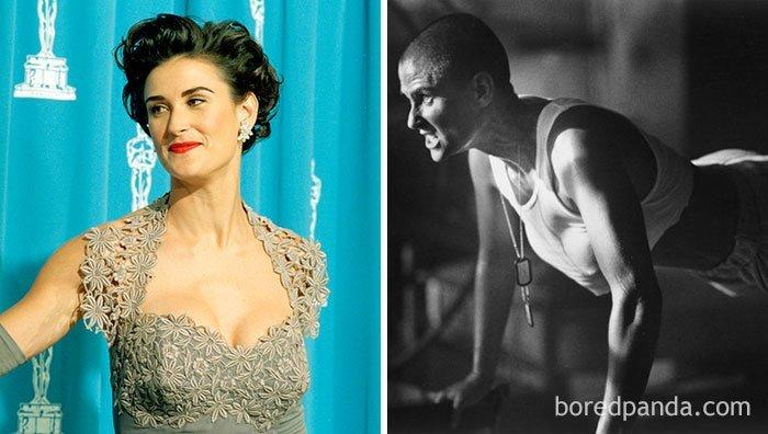 """Деми Мур, """"Солдат Джейн"""" актеры, до и после, интересное, кино, подборка, роли, роли актёров, фильмы"""