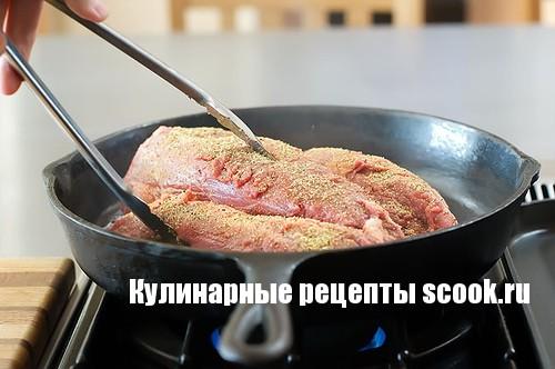 Замариновать мясо для жарки на сковороде рецепт