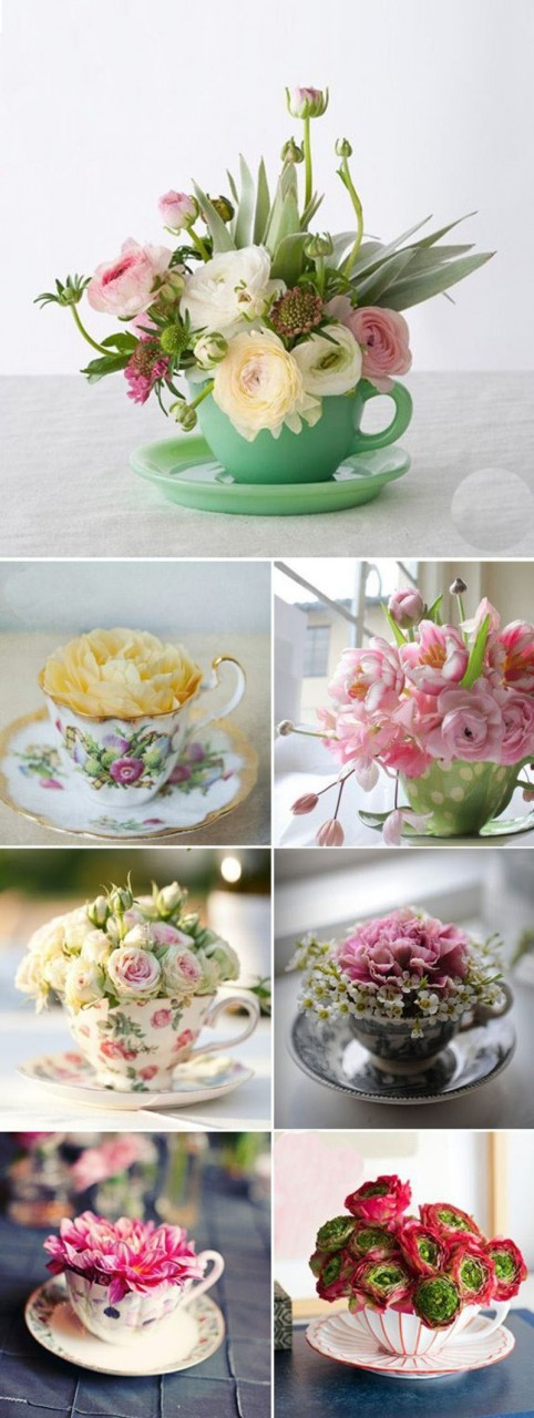 Она просто взяла в руки стеклянную вазу и немного цветов… Эффект супер!