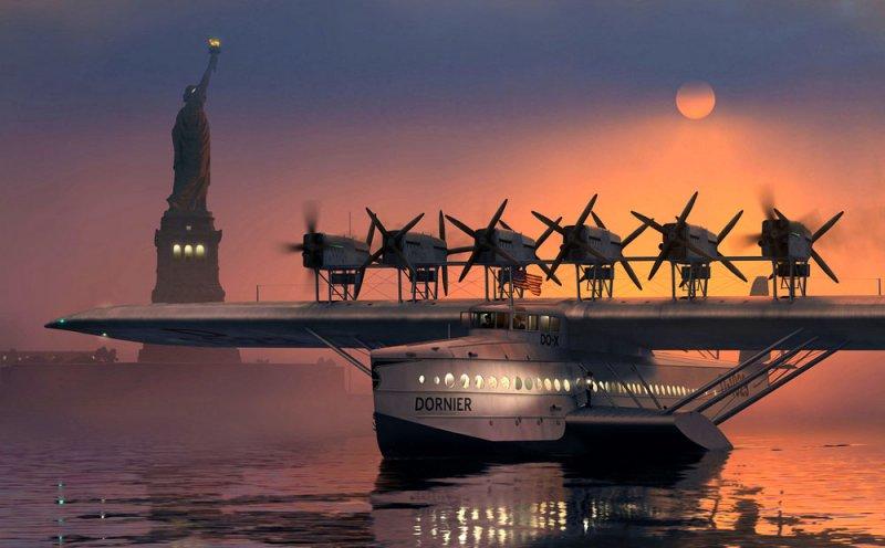 Летающий дворец: немецкая пассажирская летающая лодка