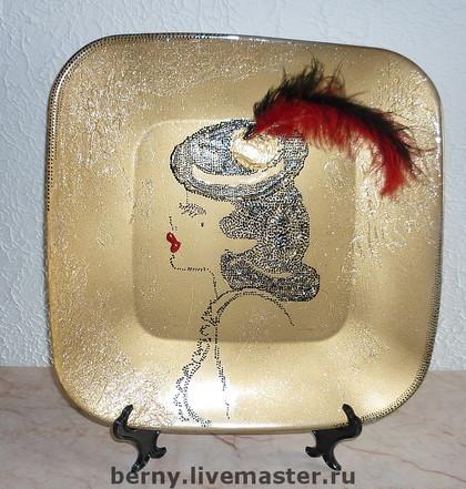 Декоративная посуда ручной работы. Ярмарка Мастеров - ручная работа незнакомка. Handmade.