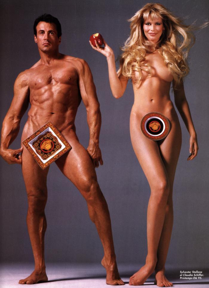 Сильвестр Сталлоне и Клаудия Шиффер, 1995 год