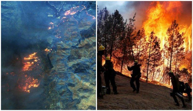 Разрушительные лесные пожары в Калифорнии - снимки из космоса