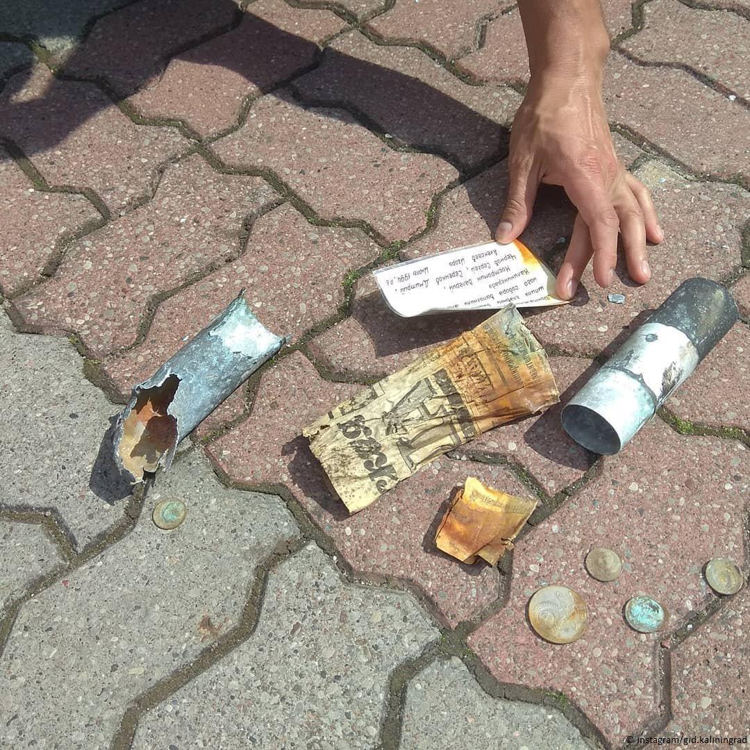 В Калининграде туристы нашли капсулу с посланием потомкам