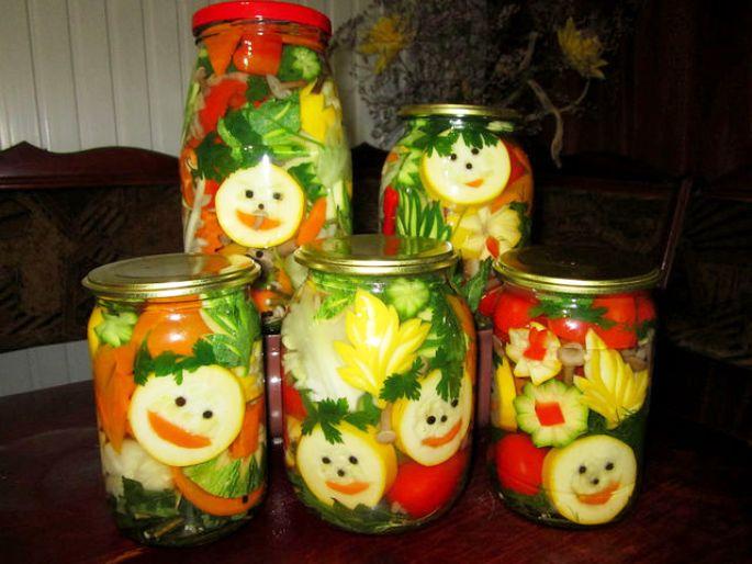Консервированные овощей своим руками