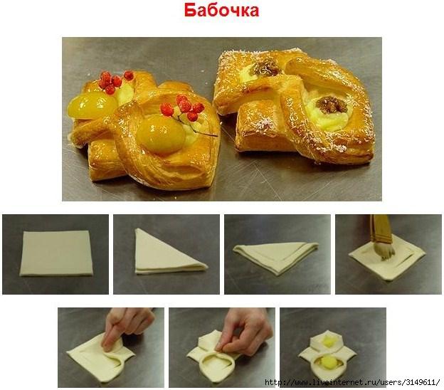 Рецепты с слоеного теста с пошагово