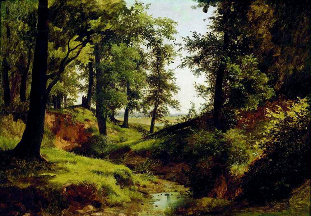 Неземная поэзия русских лесов… Русский художник Лев Каменев (1833-1886)