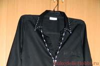 Украшаем блузку вышивкой из бисера