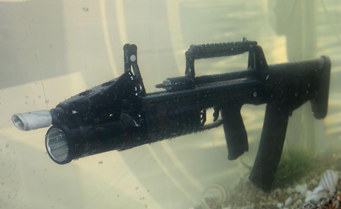 Оружие, которое стреляет под водой