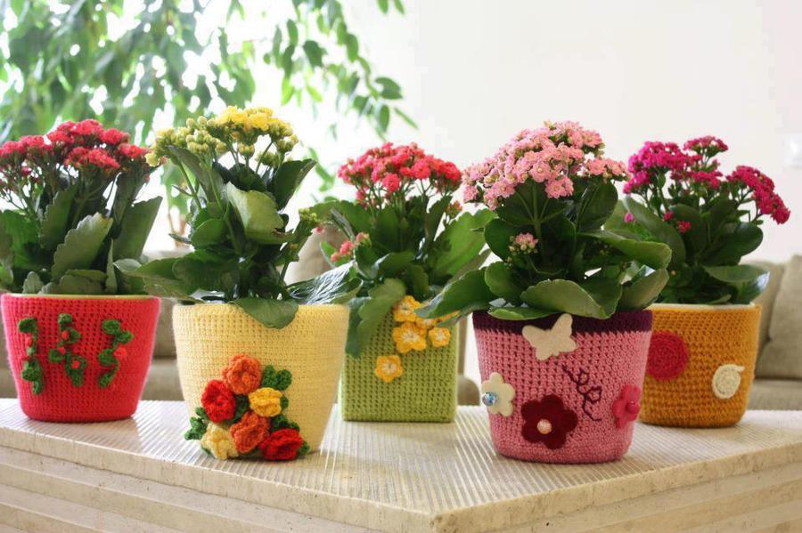 Идеи как оформить цветочный горшок