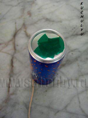 форма для свечи заклеиваем скотчем