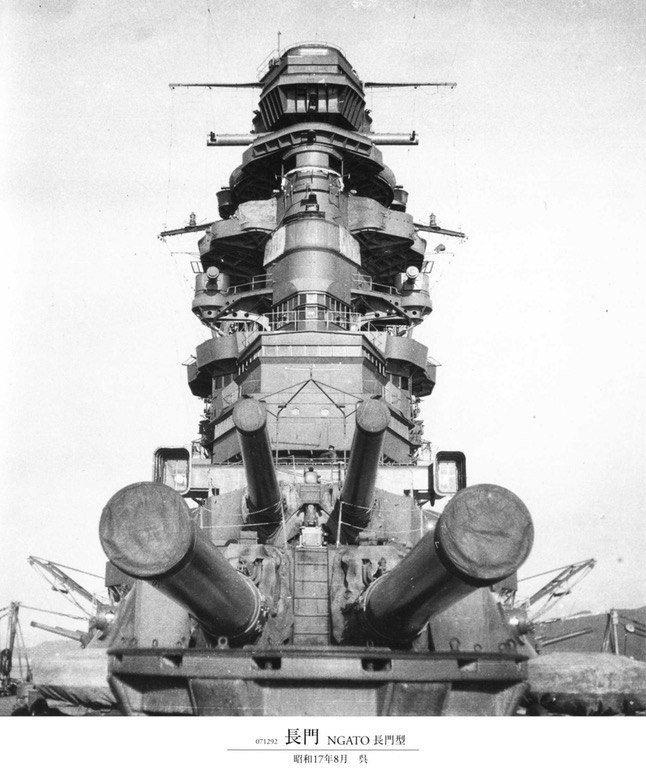 """Линейный корабль """"Nagato"""" (""""Нагато""""), август 1942 года. история, люди, мир, фото"""