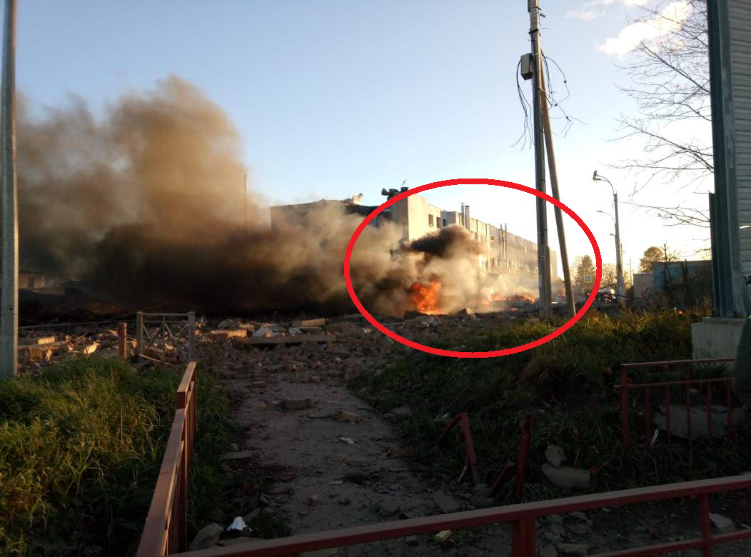 В Гатчине произошел взрыв на заводе пиротехники «Авангард»