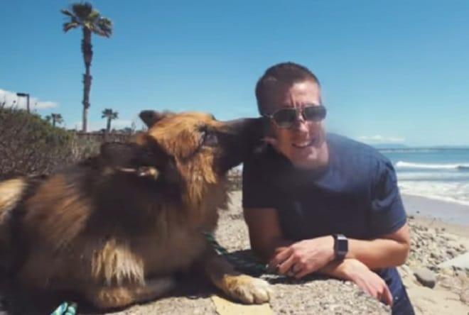 Бездомный пес, просидевший на цепи много лет, взвыл от счастья, когда впервые увидел океан