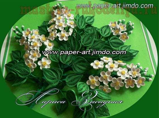 Квиллинг цветы черемухи