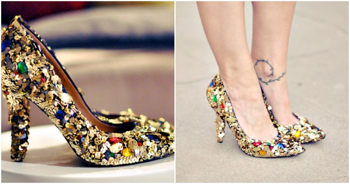 Волшебное превращение старых туфель в праздничные