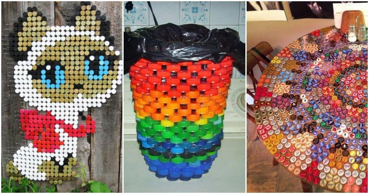Свободное время + крышки от бутылок: полезные идеи для дома и дачи