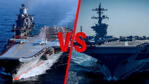 Битва титанов: «Адмирал Кузнецов» против авианосца «Nimitz»