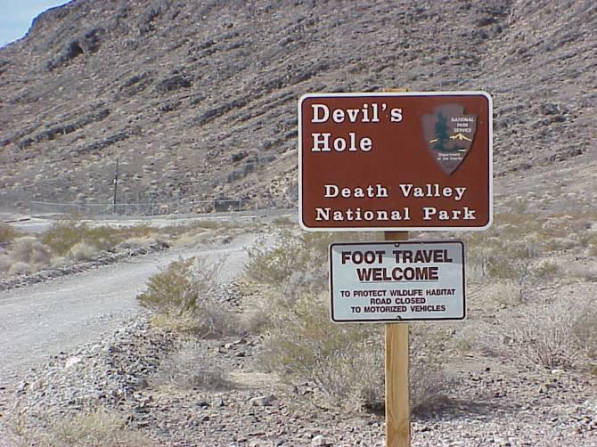 Дыра Дьявола в Долине Смерти