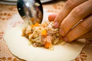 Манты с тыквой и мясом по-узбекски - фото шаг 5