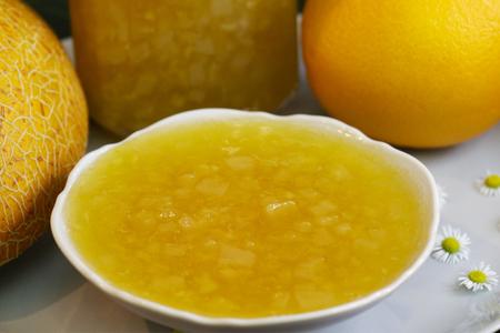 Фото к рецепту: Варенье дыня апельсин с пектином на зиму, за 15 минут