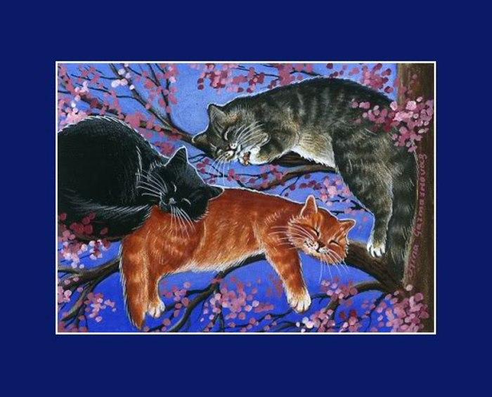 Очарование кошек на картинах Ирины Гармашовой