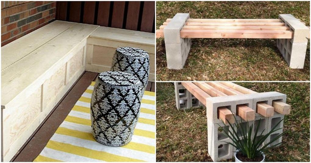 15 креативных скамеек, которые преобразят ваш двор