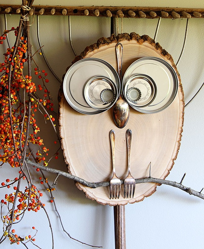 Поделка сова своими руками из дерева